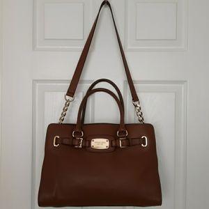 Michael Kors soft leather brown satchel worn twice